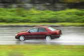 Driving at rain — Stock Photo