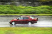 Driving at rain — Stock Photo