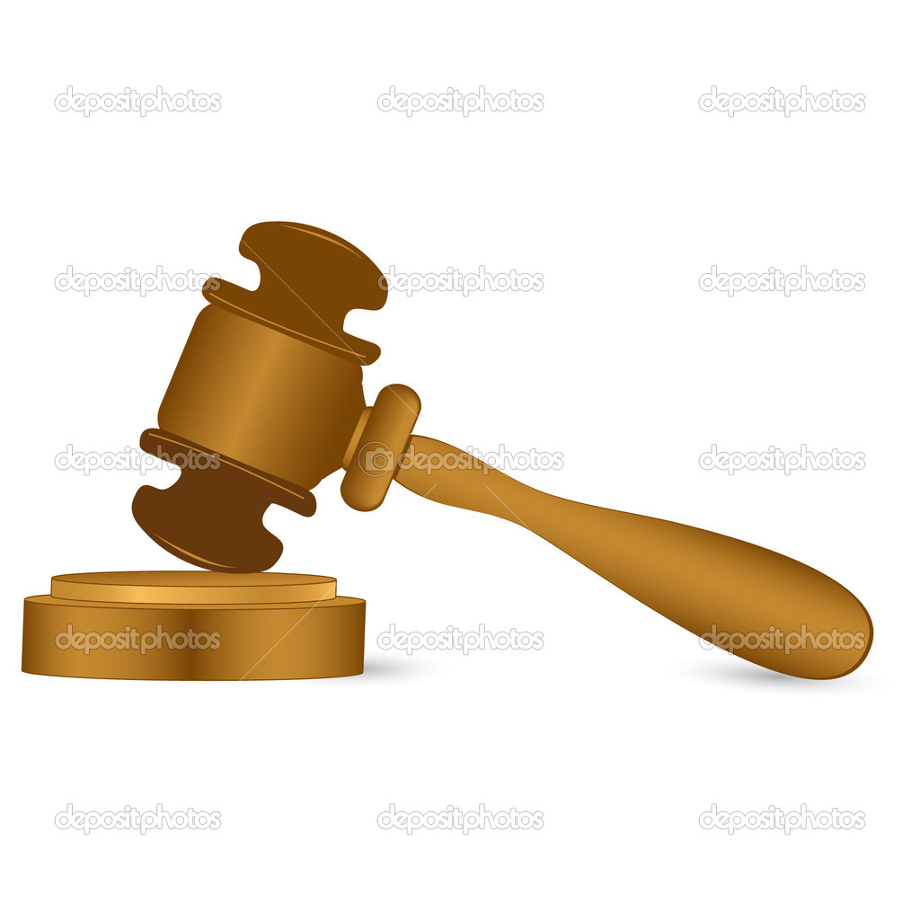 Wooden mallet - Stock Image
