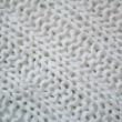 White knitted textured background — Stock Photo