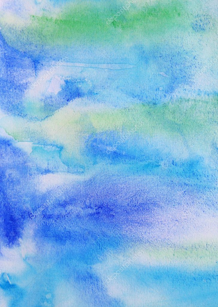 Abstract watercolor background with colorful different layers on paper texture  — Stock Photo #3142831