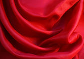 Smooth Red Silk as background — Stock Photo