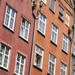 Poland. Gdansk. Walls of old houses - Stock Photo