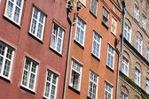 Polônia. gdansk. paredes antigas casas — Foto Stock