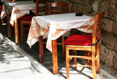 Greece. Rhodos island. An open-air cafe — Stock Photo