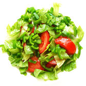 Healthy vegetarian Salad on the white plate — Stock Photo