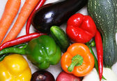 Colorful different fresh vegetable — Stock Photo