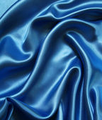 Smooth elegant blue silk — Stock Photo