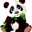 Panda eating bamboo — Stock Vector #2732075