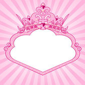 Princess crown frame — Vector de stock