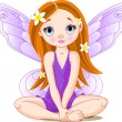 Stock Vector: Little cute fairy