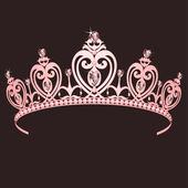 Princess Crown — Vettoriale Stock
