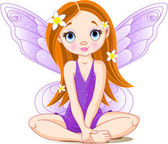 Little cute fairy — Stock Vector