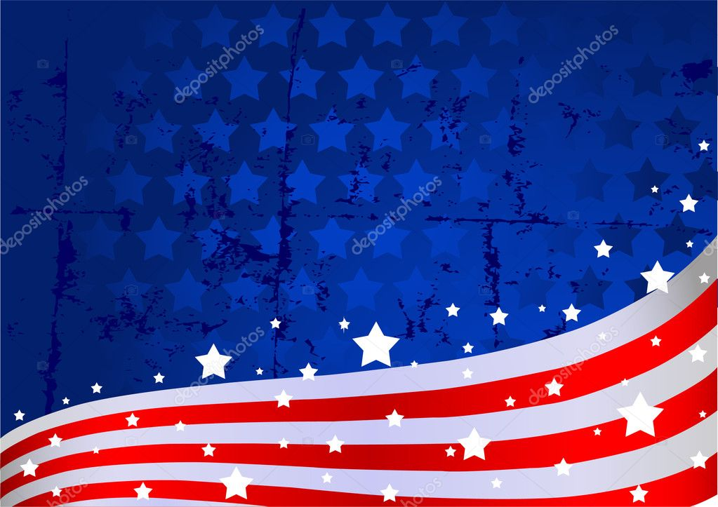 An American flag background — Stock Vector #2832843