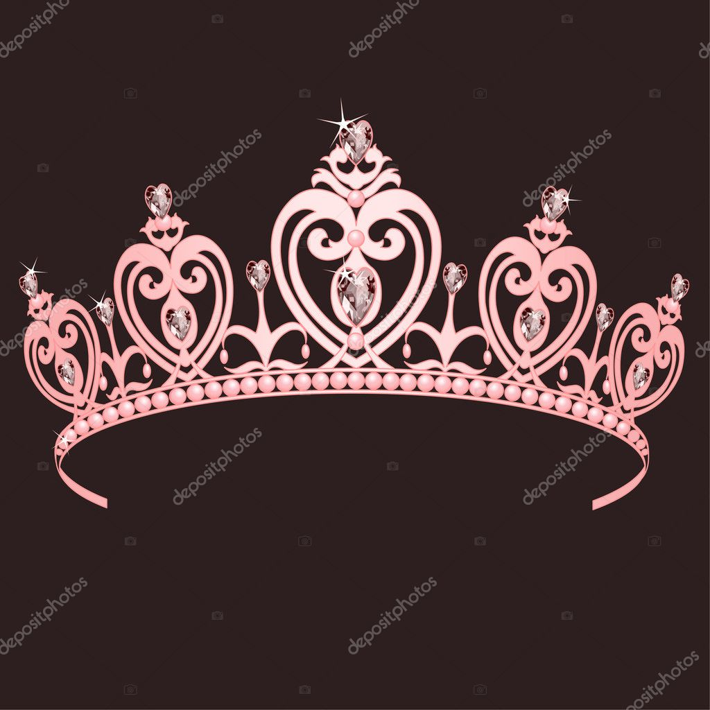 Beautiful shining true princess crown — Stockvectorbeeld #2832845