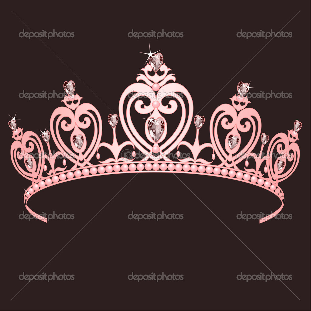 Beautiful shining true princess crown — Stock vektor #2832845