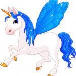 Fairy Tail Indigo Horse — Stock Vector