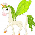 Fairy Tail Green Horse — Stock Vector