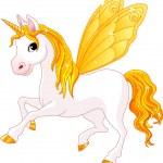 Fairy Tail Yellow Horse — Stock Vector