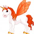 Royalty-Free Stock Vector Image: Fairy Tail Orange Horse