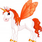 Fairy Tail Orange Horse — Stock Vector