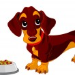 Stock Vector: Dachshund dog