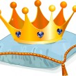 Queen&#039;s crown on the pillow - Imagens vectoriais em stock