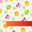 Flower background design — Stockvectorbeeld