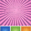 Retro Radial Background — Stock Vector