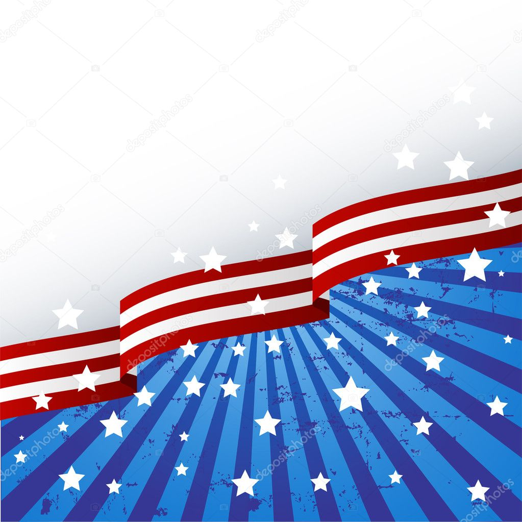 USA flag theme background with place for your copy\text  Stock Vector #2891866