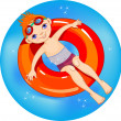 Boy at the pool. — Stock Vector #2915803
