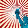 Vector de stock : Statue of liberty