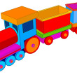 Vector de stock : Toy train