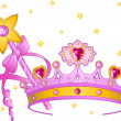 Royalty-Free Stock Vector Image: Princess Collectibles