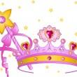 Princess Collectibles — Stock Vector