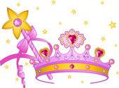 プリンセス グッズ — ストックベクタ