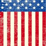 American grunge flag — Stock Vector