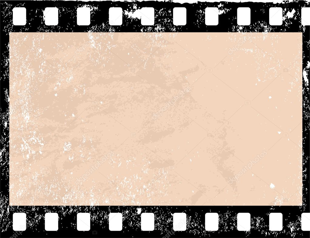 Illustration of a grunge filmstrip frame — Stock Vector #3014394