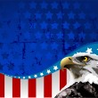 Bald Eagle American Flag — Stockvektor