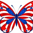 Royalty-Free Stock Vector Image: USA butterfly