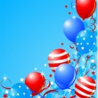 Stok Vektör: Balloons card for Fourth of July