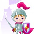 The Brave Knight — Stock Vector