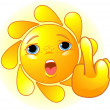 Stock Vector: Sun shows middle finger
