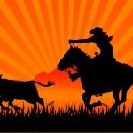 Riding cowboy — Stock Vector #3031953