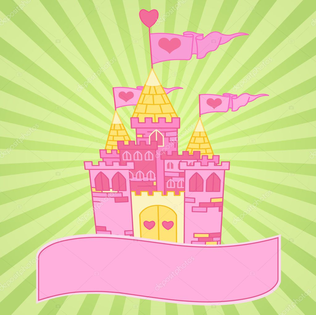Fine background of a Fairy Tale Princess Castle  — Image vectorielle #3031748