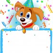 Baby Dog Birthday — Stock Photo