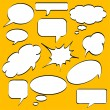 Stock Vector: Comics style speech bubbles