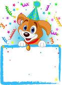 Baby Dog Birthday — Stock Vector