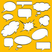 Comics style speech bubbles — Stock Vector