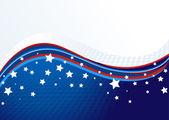 Amerikaanse achtergrond — Stockvector